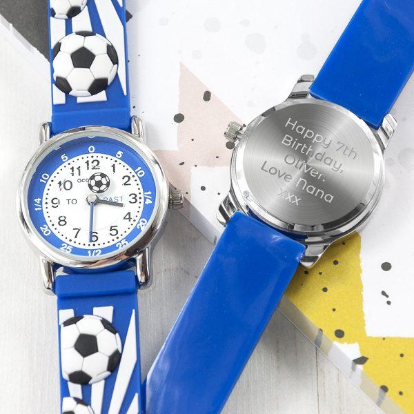 kids-personalised-blue-football-watch-per3173-001